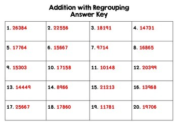 4 Digit Addition With Regrouping Task Cards