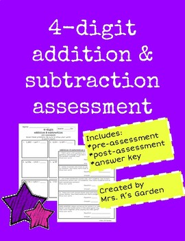 4-Digit Addition and Subtraction Assessment