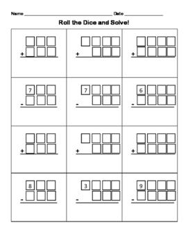 4-Digit Addition and Subtraction Dice Roll