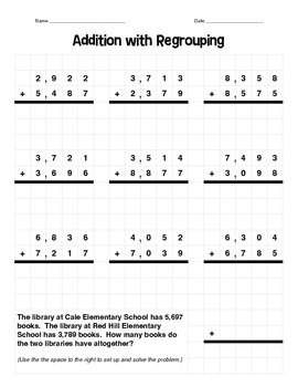 4-Digit Addition with Regrouping