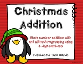 4 Digit Addition with Regrouping {Christmas}