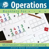 Montessori Math Addition, Subtraction, Multiplication, and