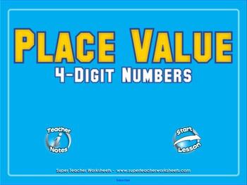 4-Digit Place Value SMART Board Lesson