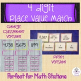4-Digit Place Value Matching Game