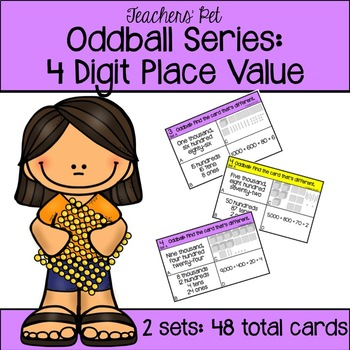 4 Digit Place Value Oddball Cards