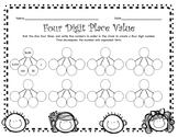 4 Digit Place Value Roll and Solve Sheet