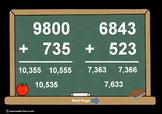 4 Digit Plus 3 Digit Addition PowerPoints+MatchingWkshts &Keys-BUNDLE of 3 PP's!