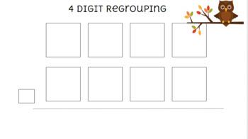 4 Digit Regrouping Mat