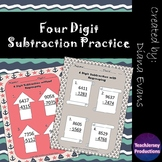 4 Digit Subtraction Practice