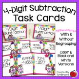 4-Digit Subtraction Task Cards - Unicorn Theme