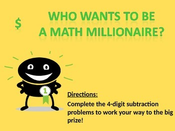 "4 Digit Subtraction: ""Who Wants to be a Millionaire"" Smart"