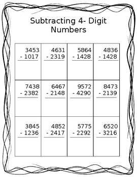 4-Digit Subtraction with Regrouping