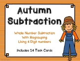 4 Digit Subtraction with Regrouping {Autumn}