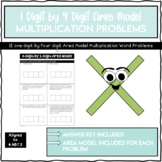 4 Digit by 1 Digit Area Model Word Problems