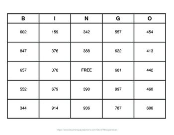 4-Digit by 1-Digit Division BINGO and Task Cards