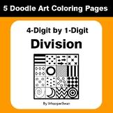4-Digit by 1-Digit Division - Coloring Pages | Doodle Art Math