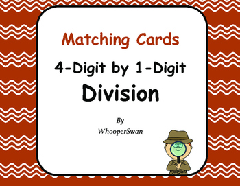 4-Digit by 1-Digit Division Matching Cards