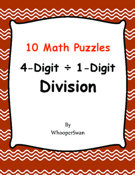 4-Digit by 1-Digit Division Puzzles