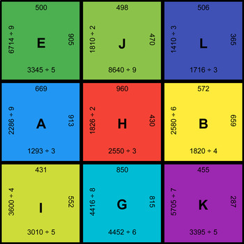 4-Digit by 1-Digit Division - Puzzles with GOOGLE Slides