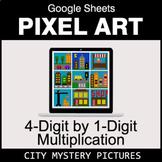 4-Digit by 1-Digit Multiplication - Google Sheets Pixel Ar