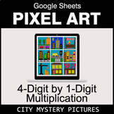 4-Digit by 1-Digit Multiplication - Google Sheets Pixel Ar