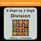 4-Digit by 2-Digit Division - Color-By-Number PUMPKIN EMOJI Mystery Pictures