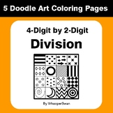 4-Digit by 2-Digit Division - Coloring Pages | Doodle Art Math