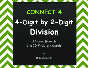 4-Digit by 2-Digit Division - Connect 4 Game