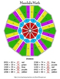 4-Digit by 2-Digit Division Mandala Math Color by Number