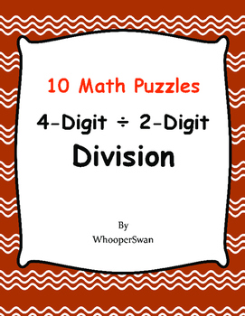 4-Digit by 2-Digit Division - Puzzles