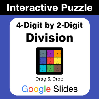 4-Digit by 2-Digit Division - Puzzles with GOOGLE Slides