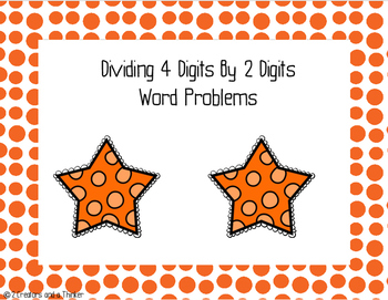 4 Digit by 2 Digit Division Word Problems - TEKS 5.3C