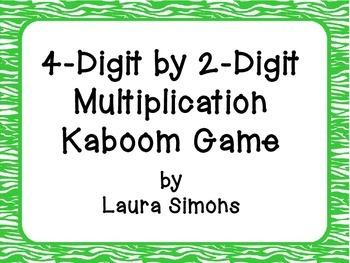 4-Digit by 2-Digit Multiplication Kaboom