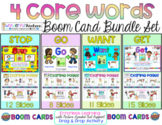 4 Digital Core Word Boom Cards Books (Want,Get,Stop,Go) Au