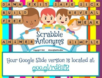 4 Digital Moveable Scrabble Letters Antonym Matching Assignments Also Printables