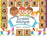 4 Digital Moveable Scrabble Letters Antonym Matching Assig