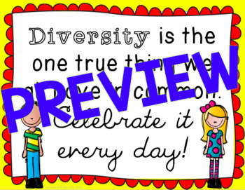 Diversity Quote Posters