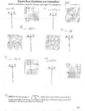 4+ Double Side Graphing & Solving Square Root Functions Equations & Inequalities