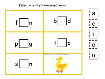 4 Ducks themed CVC Games.  Printable Preschool Game