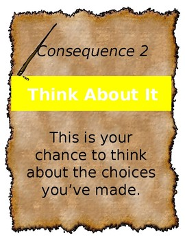 4 EDITABLE Consequences Posters Wizard Harry Potter Parchment Theme