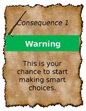 4 EDITABLE Consequences Posters Wizard Harry Potter Parchm