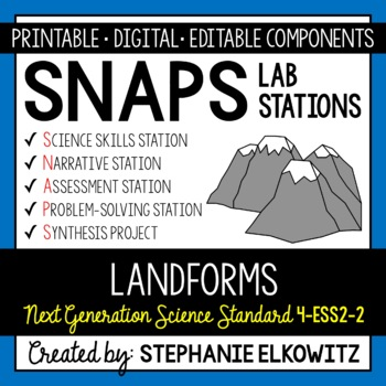 4-ESS2-2 Landforms Lab Stations Activity