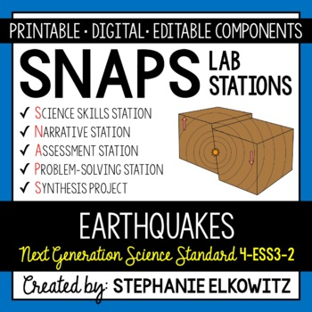 4-ESS3-2 Earthquakes Lab Stations Activity