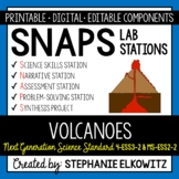4-ESS3-2 & MS-ESS2-2 Volcanoes Lab Stations Activity - Printable & Digital