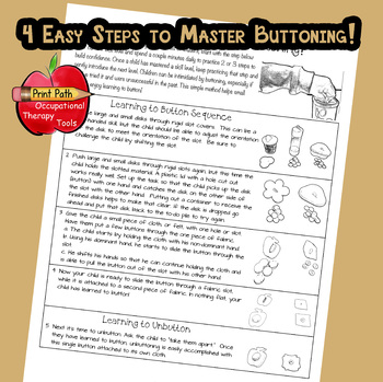 4 Easy Steps to Master Buttoning! FREEBIE