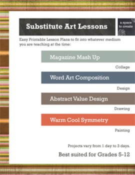 4 Easy Substitute Art Lessons