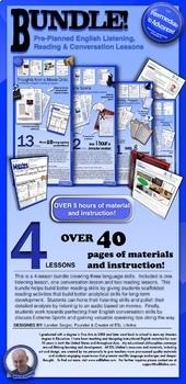 4 English Language Lesson Plans - BUNDLE