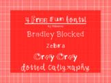 4 FREE fun fonts!