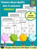 4 FRENCH Descriptive Writing Assignments for Outdoor Learning [Paper or Digital]