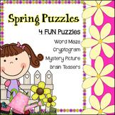 4 FUN Spring Puzzles